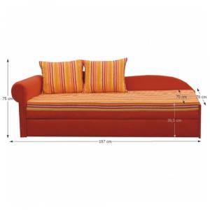 Rozkladacia pohovka, oranžová/pásikavý vzor, ľavá, AGA D