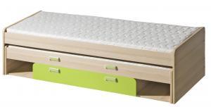 Rozkladacia posteľ 80 cm Lavendon L16 (s roštami) (zelená)