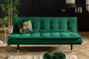 Rozkladacia sedačka Clark 184 cm smaragdovozelená