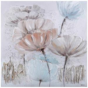 Ručne maľovaný obraz na stenu Windy flowers (100x100 cm)