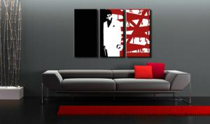 Ručne maľovaný POP Art obraz AL PACINO 3 dielny  al33
