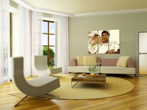 Ručne maľovaný POP Art obraz AL PACINO 3 dielny  al34