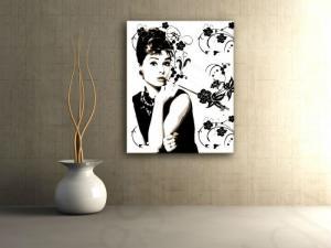 Ručne maľovaný POP Art obraz Audrey Hepburn  ah6