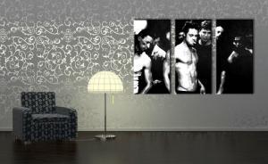 Ručne maľovaný POP Art obraz Fight Club 3 dielny  fc