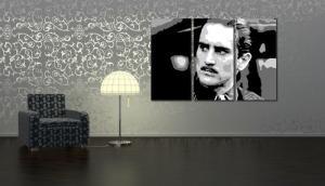 Ručne maľovaný POP Art Zľava 25 %  Godfather R. De Niro 3 dielny 120x80 cm god