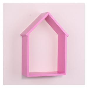 Ružová drevená nástenná polička North Carolina Scandinavian Home Decors House