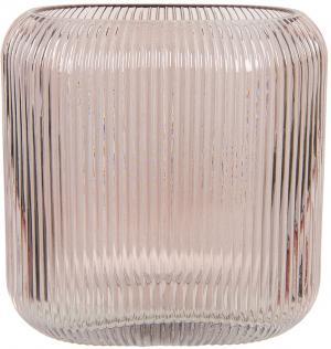 Ružová sklenená oválna váza Daffy - 19 * 7 * 16 cm