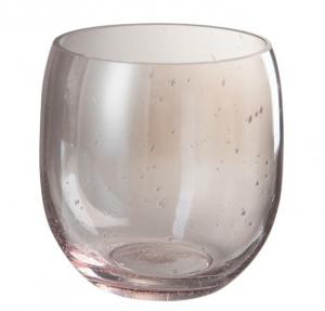 Ružová sklenená váza Bubble - Ø 17*17 cm