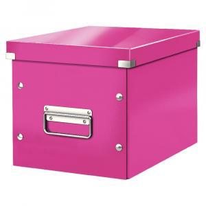 Ružová úložná škatuľa Leitz Office, dĺžka 26 cm