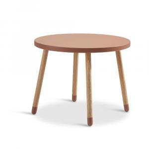 Ružový detský stolík Flexa Dots, ø 60 cm