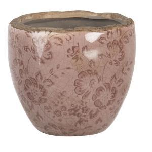 Ružový keramický kvetináč s popraskaním Alessia XS - Ø 11*10 cm
