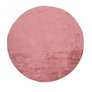 Ružový koberec Universal Fox Liso, Ø 120 cm