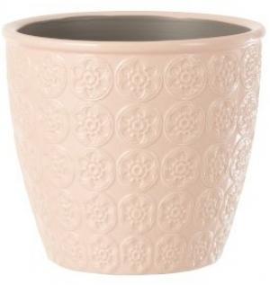 Ružový vzorovaný obal na kvetináč s kvetmi Blossom S - Ø12*11 cm