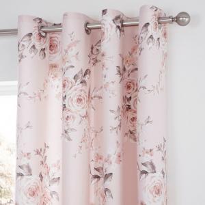 Ružový záves Catherine Lansfield Rosalia, 168 x 183 cm