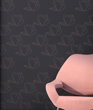 Šablóna efekt tapety Magnolia ST235