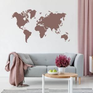 Šablóna na stenu - Mapa sveta