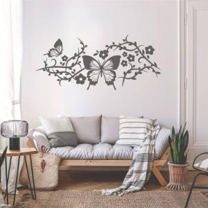 Šablóny na maľovanie - Kvety a motýle