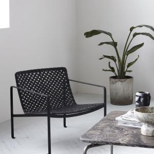 Sada 2 ks – Čierna stolička s podrúčkami Habra