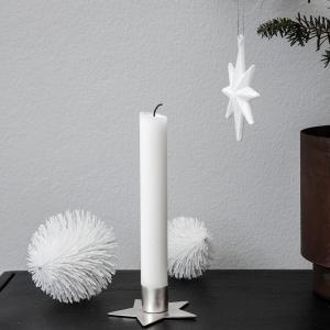 Sada 2 ks – Strieborný stojan na sviečku Star