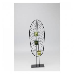Sada 2 ks – Svietnik na čajovú sviečku Leaf Wire 67 cm