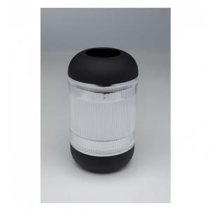 Sada 2 ks – Váza Cap – strieborná 30 cm
