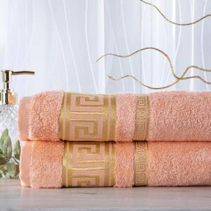 Sada 2 kusov bambusových uterákov ROMA marhuľová 50 x 100 cm