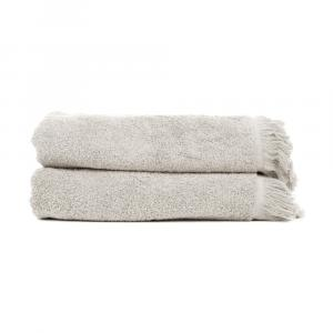 Sada 2 sivohnedých osušiek zo 100% bavlny Bonami, 70 × 140 cm
