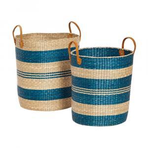 Sada 2 úložných košíkov z morskej trávy Hübsch Panduro