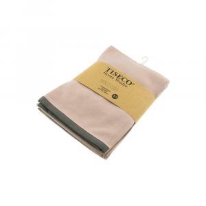 Sada 3 béžových bavlnených utierok Tiseco Home Studio, 50 × 70 cm