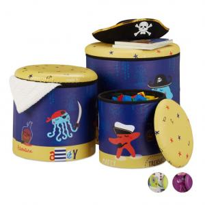 Sada 3 ks detských taburetiek RD2555, pirát