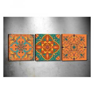 Sada 3 obrazov Tablo Center Mandala Secret