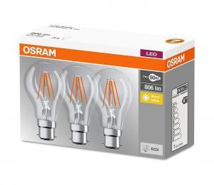 SADA 3x LED Žiarovka B22d/7W/230V 2700K - Osram