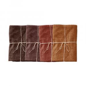 Sada 4 látkových obrúskov s prímesou ľanu Linen Couture Red Gradient, 43 x 43 cm