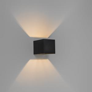 Sada 4 moderných nástenných svietidiel čierna - Transfer