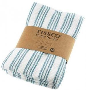Sada 4 modrých bavlnených utierok Tiseco Home Studio, 50 × 70 cm