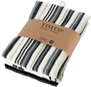 Sada 5 čiernych bavlnených utierok Tiseco Home Studio , 50 × 70 cm