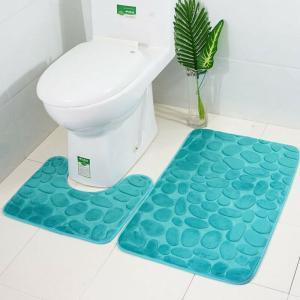 Sada kúpeľňových predložiek 2 ks Farba: tyrkysová