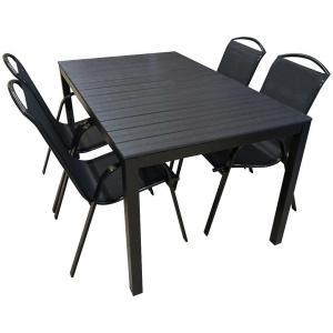 Sada stôl Polywood + 4 stoličky Himalaya