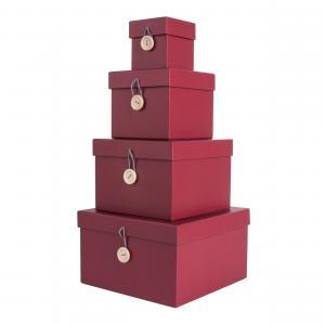 Sada štyroch vínových papierových boxov Uniform