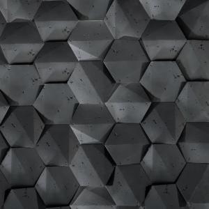 Sádrový Obkladový Kameň Huerwa 3D Čierny