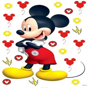 Samolepiaca dekorácia Mickey Mouse 42,5 x 65 cm