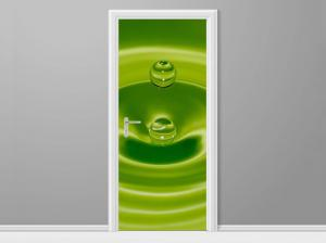 Samolepiaca fólia na dvere Kvapka zelenej vody 95x205cm ND4852A_1GV