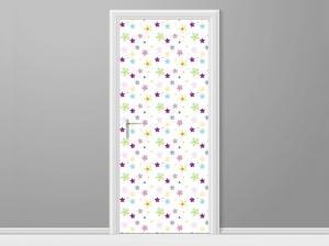 Samolepiaca fólia na dvere Malé farebené kvietočky 95x205cm ND4016A_1GV