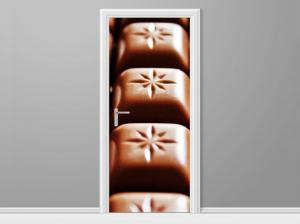 Samolepiaca fólia na dvere Tabuľka čokolády 95x205cm ND4749A_1GV
