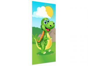 Samolepiaca fólia na dvere Zelená krajina dinosaura 95x205cm ND3352A_1GV