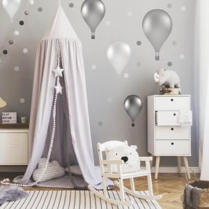 Samolepiace balóny v nórskom štýle v sivej farbe