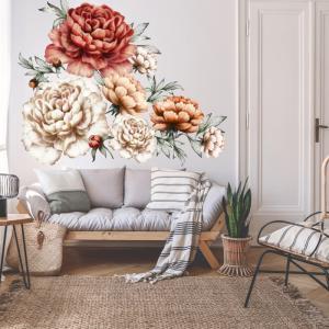 Samolepiace tapety kvetov - Pivonie červené
