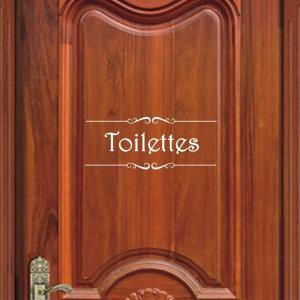 Samolepka na dvere Toalety Farba: biela