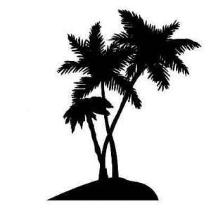 Samolepka na stenu - Palma na ostrove _px117