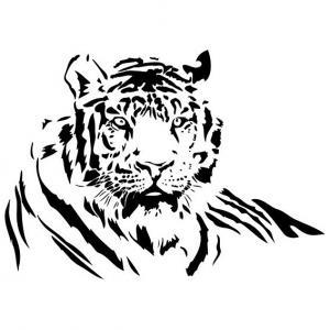 Samolepka na stenu - Tiger _exa113